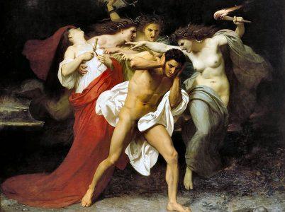Le Erinni (le romane Furie), dee della vendetta