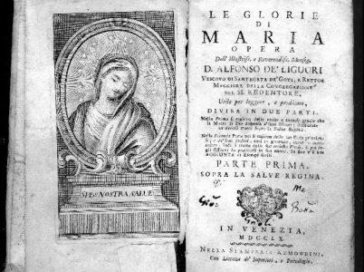 """L'umiltà di Maria (da """"LE GLORIE DI MARIA"""" di Sant'Alfonso Maria de' Liguori)"""