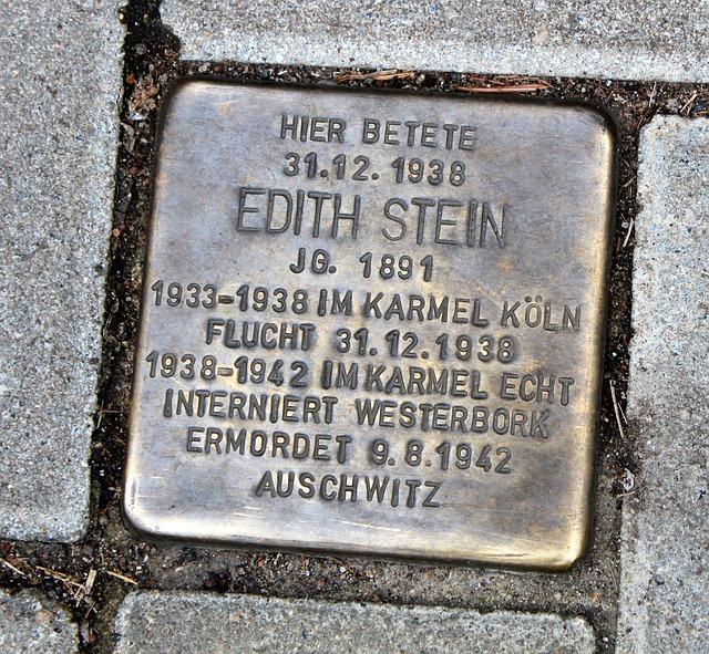 9 agosto, memoria di Santa Teresa Benedetta della Croce (Edith Stein)
