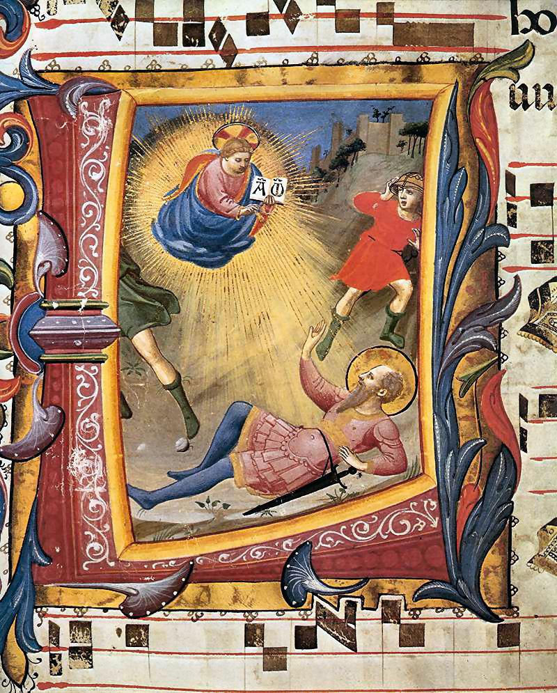 25 gennaio, conversione di San Paolo (Folgorato sulla via di Damasco)