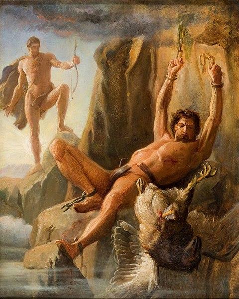 Così Prometeo, che simboleggia l'ingegno umano, diventò immortale