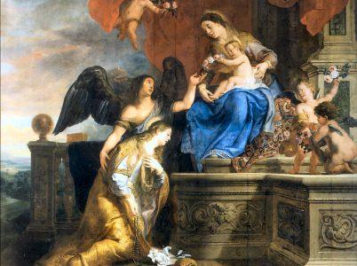 Santa Rosalia vista attraverso alcune pitture