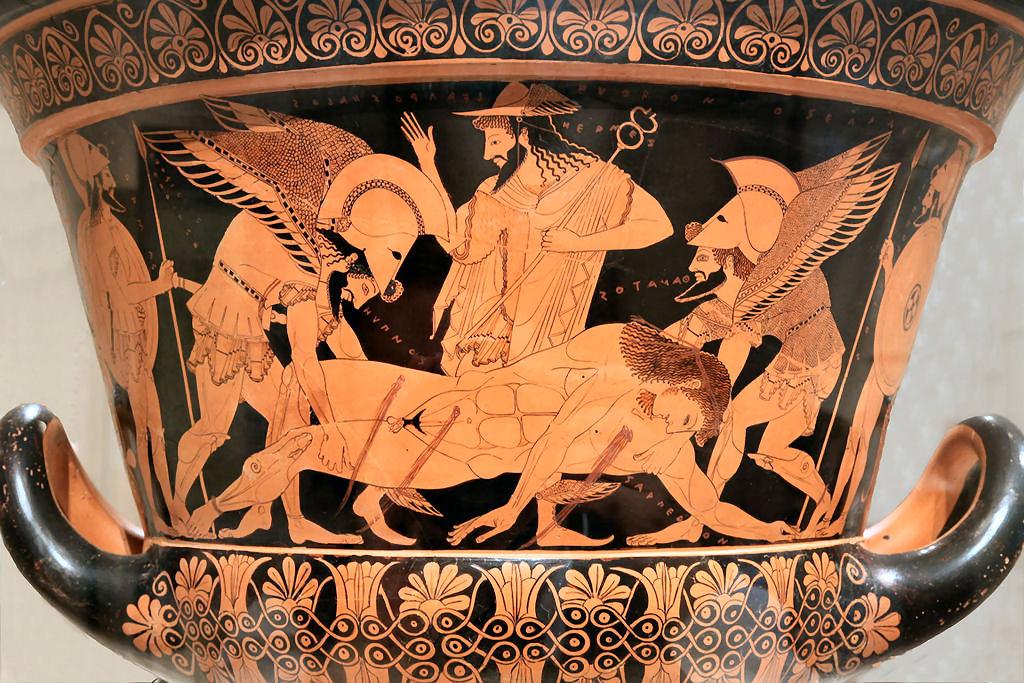 Tànato o Thanatos, la personificazione della morte