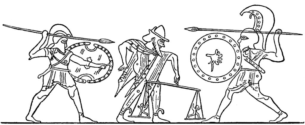 Ker o Chere, la personificazione del destino dei guerrieri