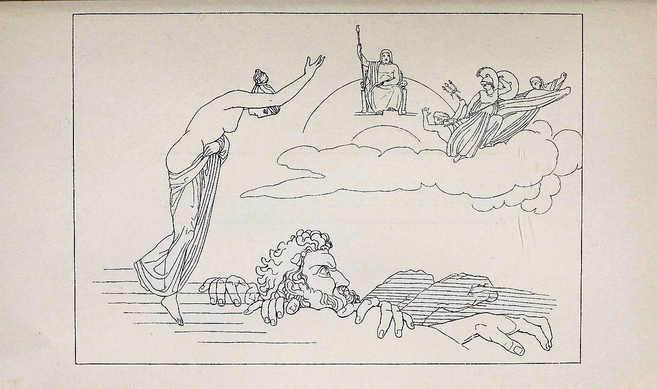 Briareo, uno dei tre Ecatonchiri (giganti dalle cento braccia)