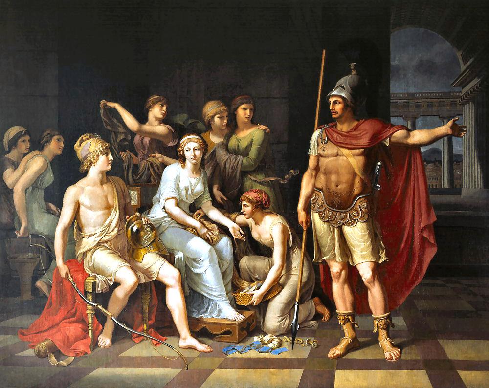 Paride: figlio di Priamo, fratello di Ettore, amante di Elena e giustiziere di Achille