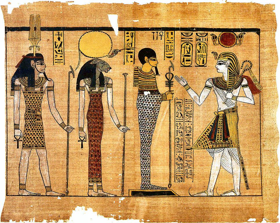 Le principali triadi delle più importanti città egizie