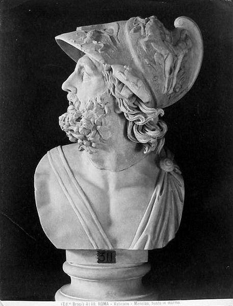 Menelao, re di Sparta e marito di Elena