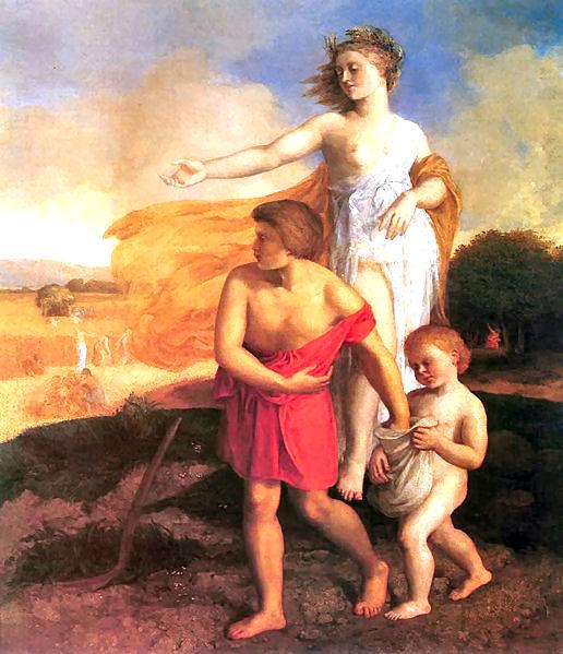 Trittolemo, il primo ideatore dell'agricoltura in Grecia